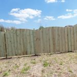Treated Wooden Fence in Progress