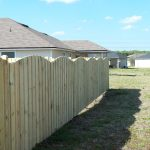 Treated Wooden Fence Complete