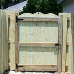 Treated Natural Wooden Fence