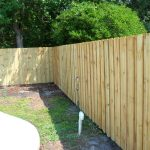 Treated Wooden Fence