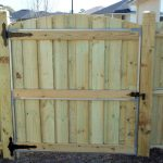 Treated Wooden Fence Complete 2