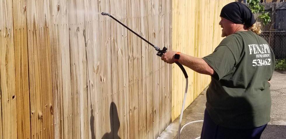 Fence Staining Jacksonville 2