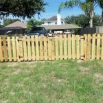 Unpainted Wooden Fence in Jacksonville